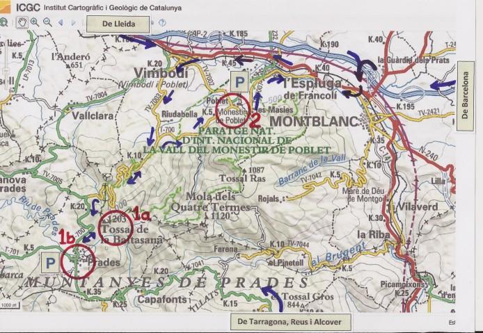 mapa situacio prades