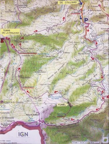 mapa excursio